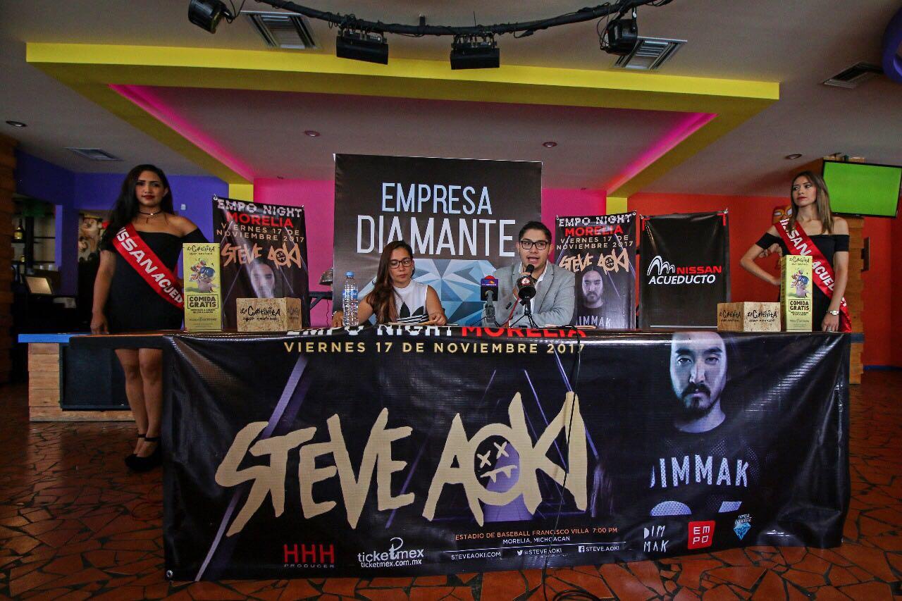 Steve Aoki pondrá a bailar a Morelia el próximo 17 de noviembre