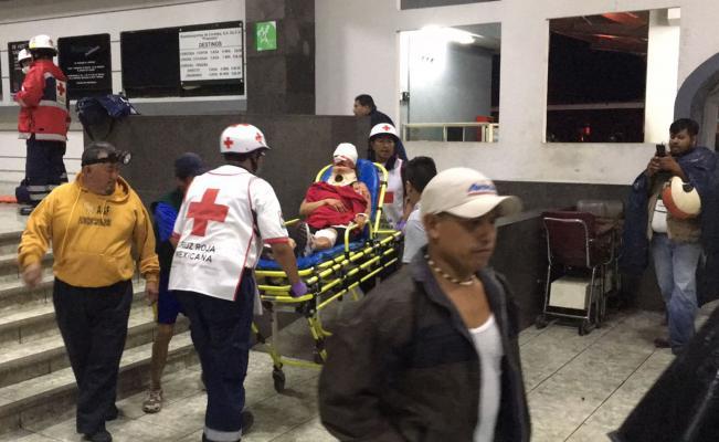 Un muerto y varios heridos al explotar autobús Plateado en la central camionera