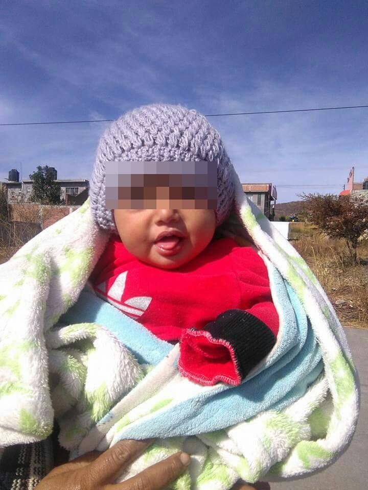 Abandonan en Tarímbaro a bebé de siete meses
