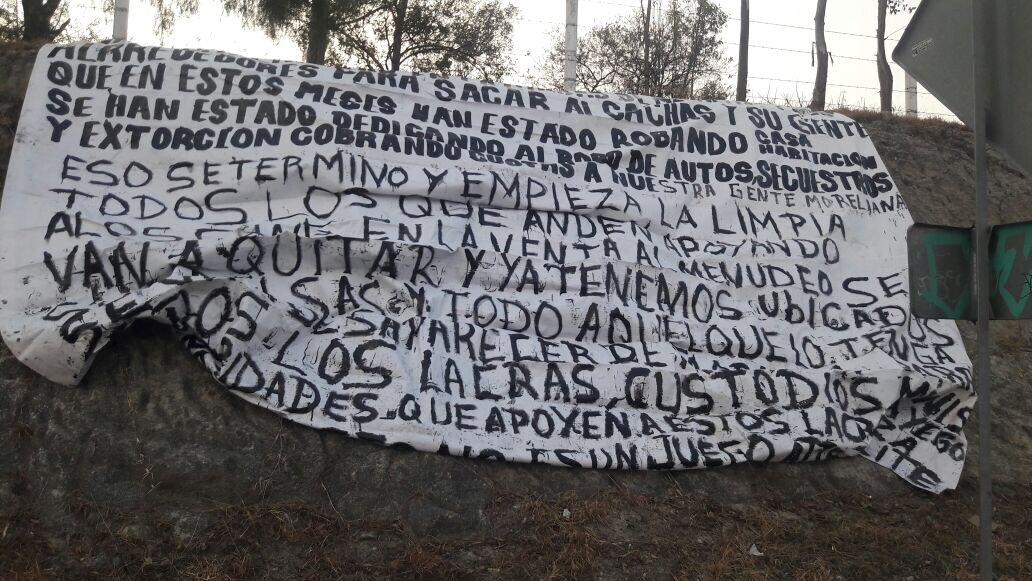 "Colocan ""narcomanta"" en Salida a Salamanca"
