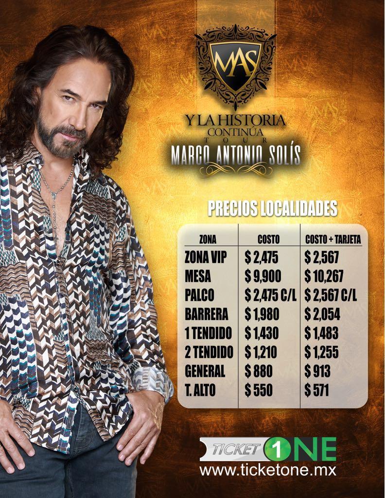 Arrancó venta de boletos para concierto de Marco Antonio Solis
