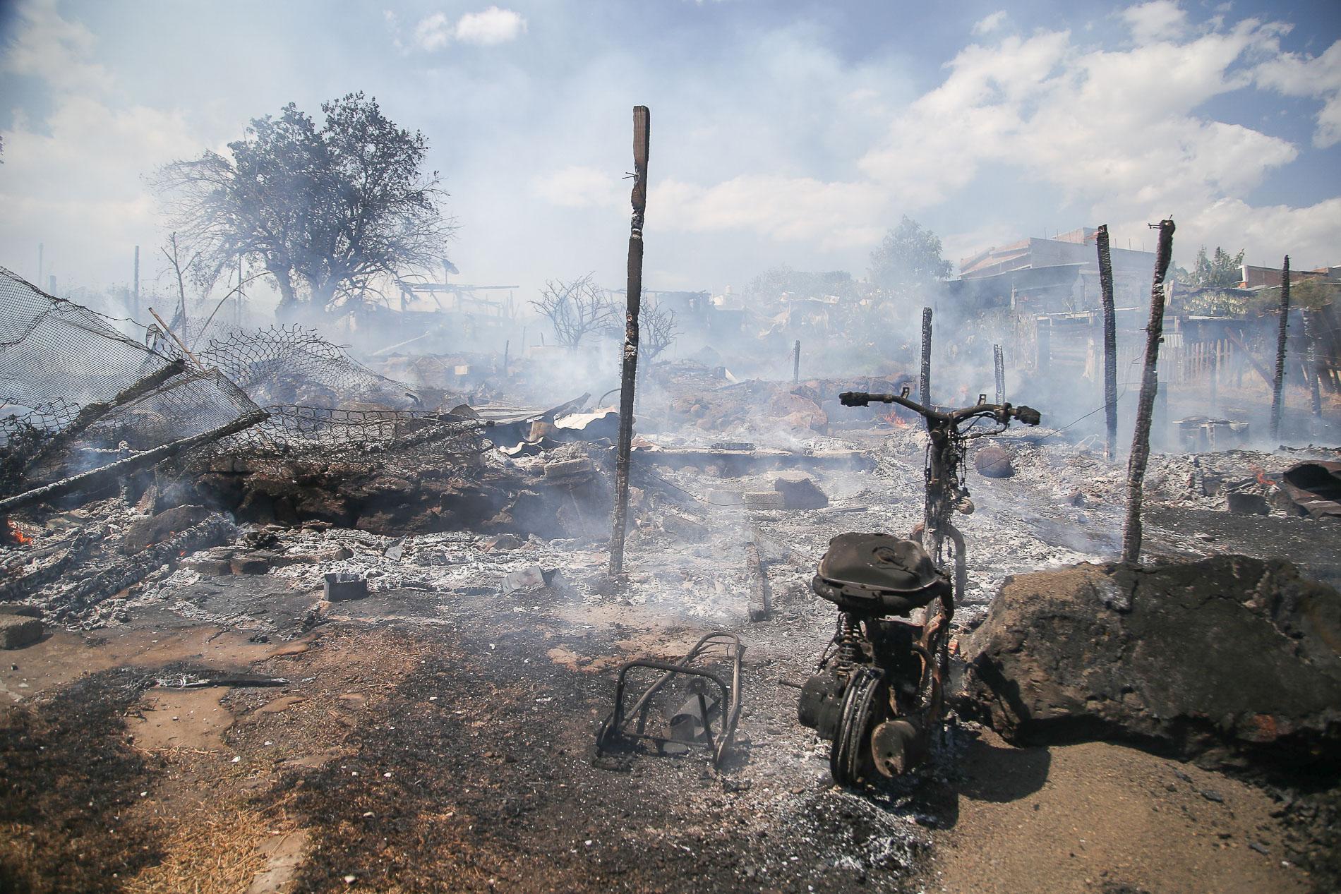Incendio en Ciudad Jardín consumió nueve casas