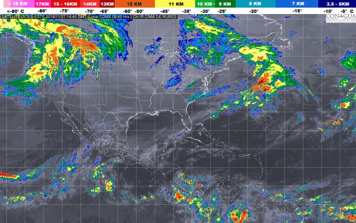 Se prevén tormentas intensas en Chiapas, Tabasco y Campeche