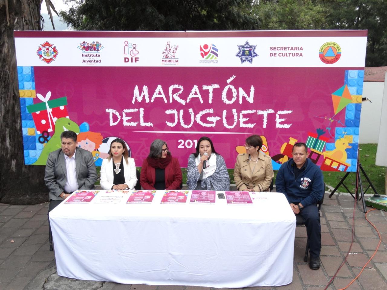 Ayuntamiento de Morelia invita al Maratón del Juguete.