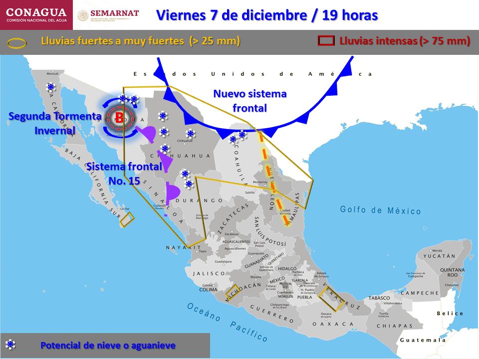 #Michoacán: Se pronostican tormentas para Michoacán