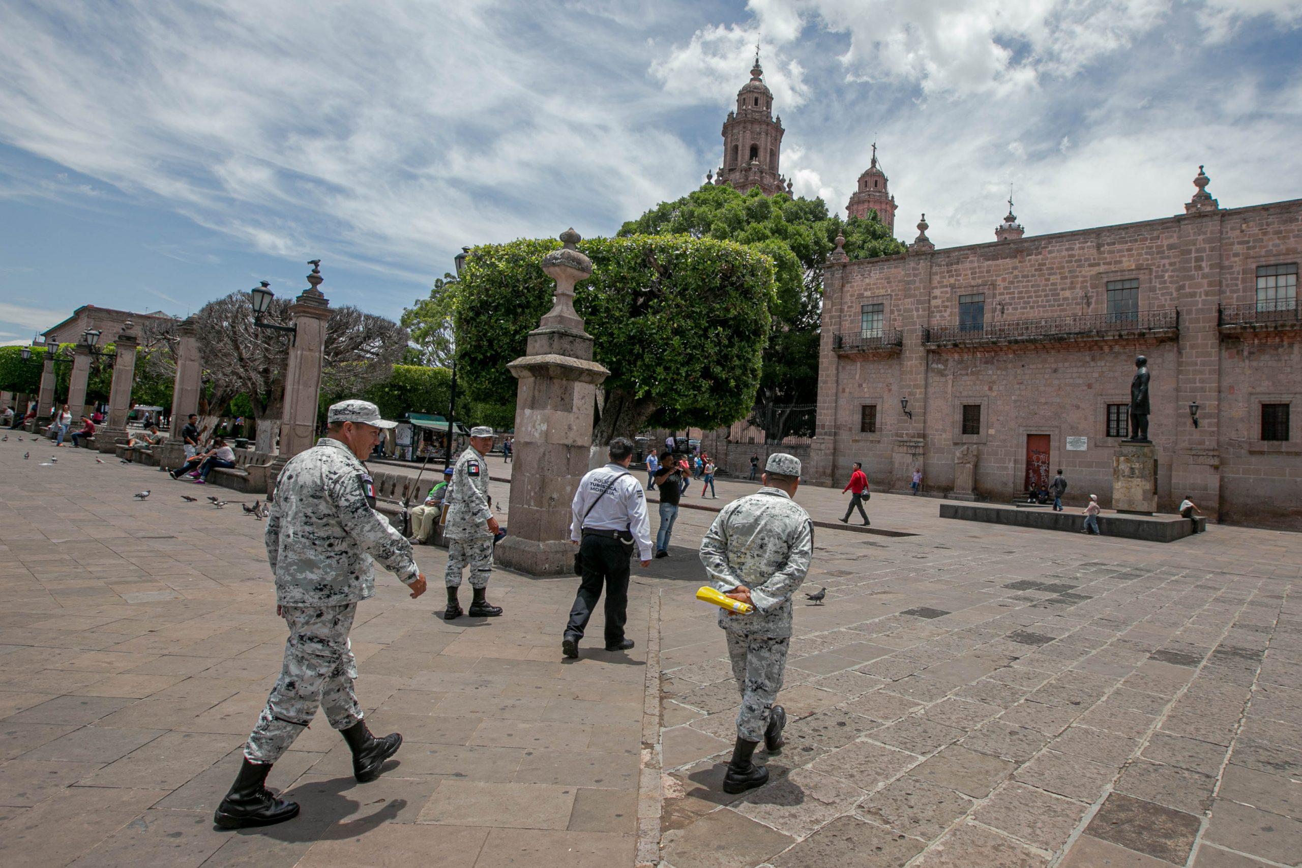 Inicia Guardia Nacional recorrido por el Centro de Morelia